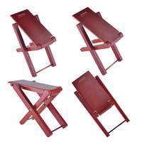 Wholesale Guitar Wood Pedal Guitar Foot Rest Professional Handicraft Antiskid Folding Wood Footstool Pedal