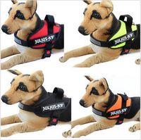 Wholesale 8 Colors Reflective Dog Harness Vest JULIUS K9 Medium Large Pet Dog Training Vest Nylon Chest Strap Traction With Handle CCA5297