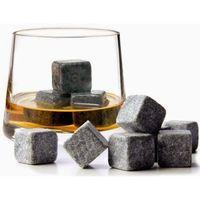 Wholesale 144pc bag Black whisky Stone with a velvet bag whiskey rock ice stone ice cube stone