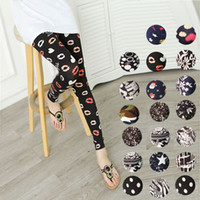 Wholesale stretchy floral leggings for women wear in fall soft milk clothing colorful styles animal print polka dot striped plaid bandage