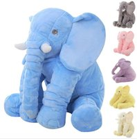 animal bedding for kids - 60cm Fashion Baby Animal Elephant Style Doll Stuffed Elephant Plush Pillow Kids Toy for Children Room Bed Decoration Toys Color b502