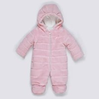 Wholesale Winter Lovely Baby Clothes Kids Clothing Pink Coral Cashmere Romper Jumpsuits For Baby Boy and Girl Long Sleeve Plush Cotton Rompers