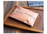 invitation letter - 100PCS Retro Brown Kraft Paper Envelope Packaging Bag Postcard Invitation Letter Paper Case Vintage Air Mail Gift Bag Envelope x11cm