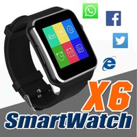 Wholesale Curved Screen X6 Smartwatch Smart Watch Bracelet Phone With SIM TF Card Slot With Camera For Samsung LG Sony All Android Mobile Phone DHL