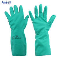 ansell safety gloves - Ansell Chemical gloves Safety Working Long gloves Nitrile rubber Chemical gloves Handswear Resistance G9495