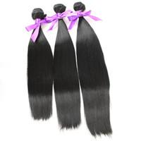 Wholesale 3bundles silky straight Hair Weft Fiber natural color B High Temperature Hair Weaving Luxury Hair Extensions hair bundles products