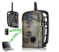 Venta al por mayor-Ltl Acorn Ltl 5210MM 5210MG 940nm Leds 24 Cuenta 12MP MMS GSM / correo electrónico de seguimiento de rastro cámara de caza infrarroja con antena externa