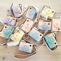 Wholesale Wooden Camera Toys for Kids Room Decor Fashion Birthday Gift Colors for Boys Girls Photography Props Cute