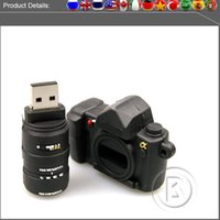 Wholesale Sample full capacity USB Flash Drives GB GB GB GB Memory Stick USB Flash Drive high quality chip camera style