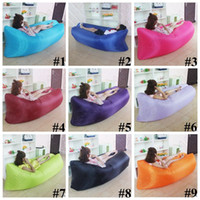 Wholesale 20 Colors Fast Inflatable Sofa Sleeping Bag Outdoor Air Sofa Portable Sleeping Hangout Lounger cm CCA5594