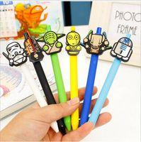 Wholesale Star Wars Gel Pen Kawaii mm Black Pen Starwars Kid Gift Yoda White soldier C3PO stabilo Papelaria Stationery WJ0325