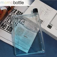 Wholesale A5 Memo Book Paper Bottle Clear Flat Portable Fruit Portable Water Bottle Water Cup Kettle ml ml ml OOA1224