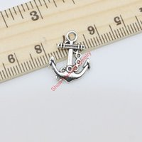 Wholesale Vintage Antique Silver Plated Anchor Charms Pendants for Jewelry Making DIY Handmade x15mm B102