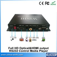 auto supermarket - Welcomed easy operation USB SD card supermarket use Optic HDMI out RS232 auto loop play p video player