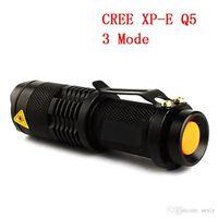 Wholesale USA EU Hot Sel TK68 CREE Q5 LED Portable Mini Flashlight Adjustable Focus Zoom flash Light Lamp LED Torches Flashlights