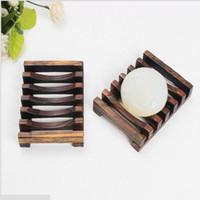 Wholesale Vintage Wooden Soap Dish Plate Tray Holder Box Case Shower Hand washing cm cm cm Bathroom Accessories