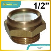 Wholesale 1 quot socket sight glass installed in liquid refrigerant reciever and accumulator