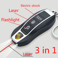 Wholesale Stun gun flash Light Car Key Mini pocket Stun gun Super power gun Flashlight laser shock