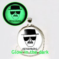 South American bad necklaces - Glow in the dark BREAKING BAD Necklace Heisenberg Necklace glass art photo necklace Glowing Jewelry