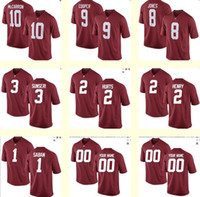 baseball alabama - Men s Mccarron Cooper Jones Sunseri Hurts Henry Saban NCAA Alabama Crimson Tide Red Personalized Customized jerseys Cheap
