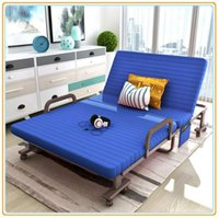 Wholesale Sofa Bed Folding Bench Bed Hotel Extra Bed with Mattress Blue cm