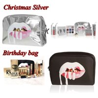 beauty fashion - High Quality Kylie Makeup Bag Birthday Collection Holiday Cosmetic Bags Kylie jenny Lip Kit Bag Beauty bags In Stock