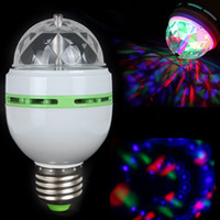 Wholesale E27 RGB Effect X LED Rotating Stage Crystal Ball LED Light Lamp for Disco DJ Party LIF_212