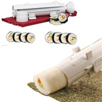 Wholesale Camp Chef Sushezi Roller Kit Perect SUSHI Made Easy DIY Sushis Mold Maker Bazooka Rolls Making Tool Rice Mould Roller Cooking Tools