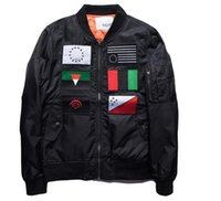 air force flags - MA1 jacket male winter lovers US Air Force flight suit retro baseball jacket embroidered flags