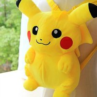 Wholesale X TM Mimeng cute Pikachu backpack cartoon doll backpack children s doll plush doll Christmas gift kg
