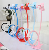Wholesale Universal Long Arm Lazy Mobile Phone Gooseneck Stand Holder Stents Flexible car Bed Desk Table Clip Bracket