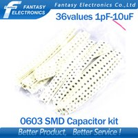 Wholesale values SMD Capacitor assorted kit pF uF component diy samples kit new and original