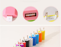Wholesale DHL V mah Colorful EU US Plug USB Wall Charger AC Power Adapter Home Charger for iphone S Plus Samsung S7 S6