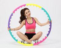 Wholesale ring massage foam hula hoops New Hula Hoop Magnetic Therapy Massage Hula Hoop Slim Abdominal Exercise