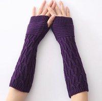 Wholesale C726 Women Gloves Winter Warm Gloves Women Arm Sleeve UV Protect Breathable Gloves Long Gloves Finger Less Gloves Free DHL