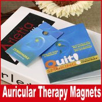 Wholesale Auricular Therapy Magnet Quit Smoking Zerosmoke ACUPRESSURE Patch Not Cigarettes Health holder Zero smoke DHL Free