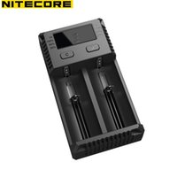 Wholesale NITECORE NEW I2 Intellicharger LCD Display Universal Battery Charger Fast Support V V AA AAA Batteries