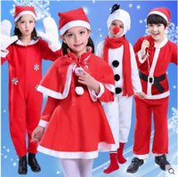 Wholesale 2016 High Quality Children s Christmas Clothing Santa Claus Dress Clothes Men And Women Christmas Suit Performance Clothing Snowman Performa