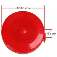 Wholesale New Retractable Ruler Tape Measure inch Sewing Cloth Tailor M Plastic tailoring materials Measure Tools
