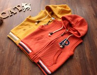 Wholesale New Autumn Winter Kid Hooded Waistcoat Fashion Sleeveless boy Girl Vest Casual Cotton Outwear Children Clothing