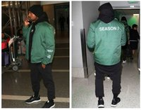 america west - SEASON Jackets Kanye West Europe and America Street Fashion Men and Women Bomber Jackets Black Green Trainers Retro Jackets Sports Coats
