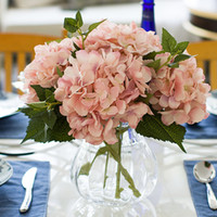 Wholesale Artificial Hydrangea Silk Flower cm Hydrangea Flower Home Garden Decor Party Fake Flowers Wedding Decorations new