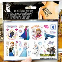 Wholesale Ice Princess Family Child Temporary Tattoo Body Art Flash Tattoo Stickers cm Waterproof Henna Tato Car Styling Wall Sticker