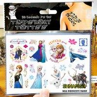 Wholesale Ice Princess Family Child Temporary Tattoo Body Art Flash Tattoo Stickers cm Waterproof Henna Tato Car Styling Wall Sticker