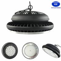 = CREE Chip + Meanwell lámpara brillante estupenda de la exposición de la bodega del ventilador 100W 150W 200W UFO LED de la luz de la bahía 120lm W lámpara 5 años de garantía