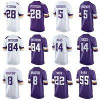 al por mayor jerseys de vikingo-Camisetas de fútbol de los Vikings Adrian Peterson Harrison Smith Cordarrelle Patterson Diggs Teddy Jersey Bridgewater Jerseys baratos de fútbol americano