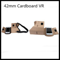 Wholesale 42mm Google Cardboard VR headsets D Vr Glasses Virtual Reality Box V2 vr Goggles Rift for inch Android iOS Smartphone