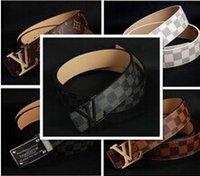 Wholesale 2016 classic luxury l v buckle belt fashion belt designer me male brand of high quality leather mc belt