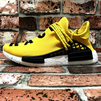 "Table Tennis Flat Unisex Double Box Pharrell's NMD ""Human Race"" Runner Shoes Yellow Hu man Special Being nmd Size 13 NMDs Boost Running Shoes Orange Black Red"