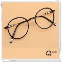 Wholesale Ultra light restoring ancient ways is han edition round frames TR90 transparent female glasses myopia glasses little face edge black glasses